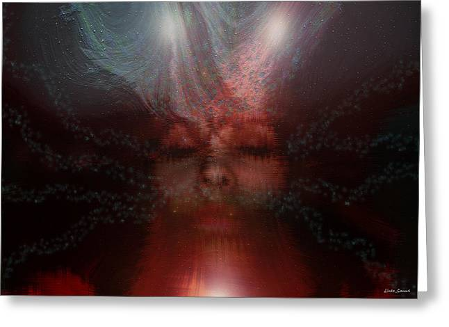 Self-portrait Photographs Greeting Cards - Fortune Teller Greeting Card by Linda Sannuti