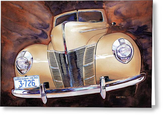 Forty Paintings Greeting Cards - Forty Ford Greeting Card by Mike Hill