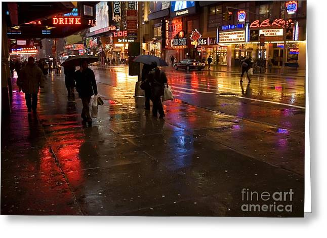 Andrew Kazmierski Greeting Cards - Forty Second St. Greeting Card by Andrew Kazmierski