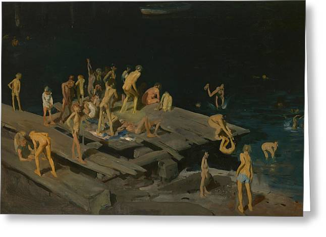 Forty Two Kids Greeting Card by George Wesley Bellows