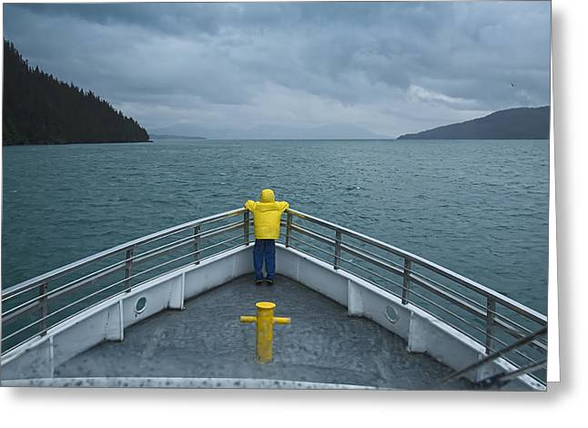 Ocean Photography Digital Art Greeting Cards - Forward Lookout Greeting Card by David Wagner