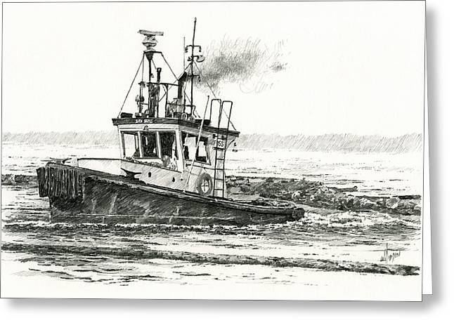 Foss Tugboat Sea Duke Greeting Card by James Williamson