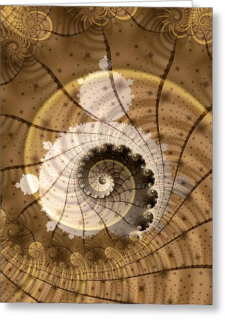 Fractal Greeting Cards - Fossil Greeting Card by David April