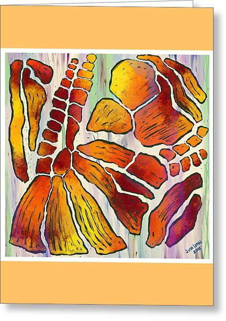 Fossil Fuel Greeting Card by The Art Of JudiLynn