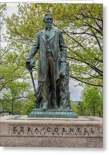 Founder - Ezra Cornell Greeting Card by Stephen Stookey