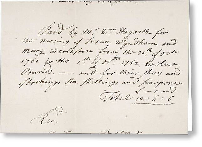 Receipt Greeting Cards - Foundling Hospital London, Receipt Greeting Card by Ken Welsh