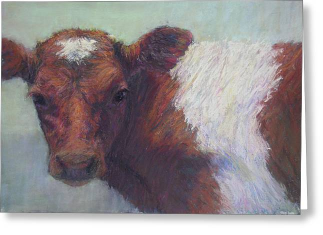 Farm Animals Pastels Greeting Cards - Foundling Greeting Card by Susan Williamson