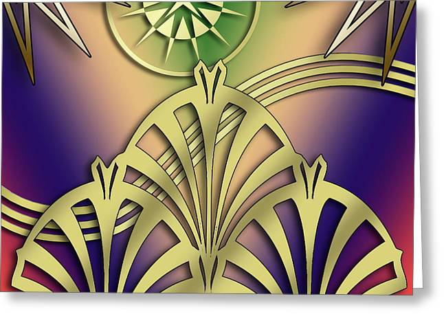 Fountain Design 4 - Chuck Staley Greeting Card by Chuck Staley