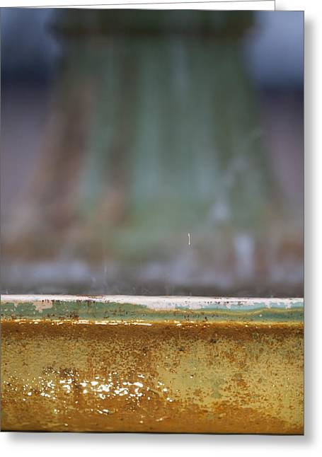 Depth Of Field Greeting Cards - Fountain Greeting Card by Dustin K Ryan