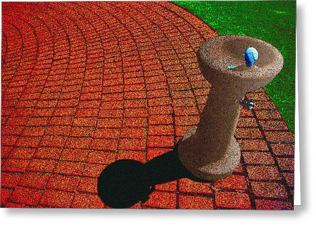 Fountain Digital Art Greeting Cards - Fountain in The Park Greeting Card by Paul Wear