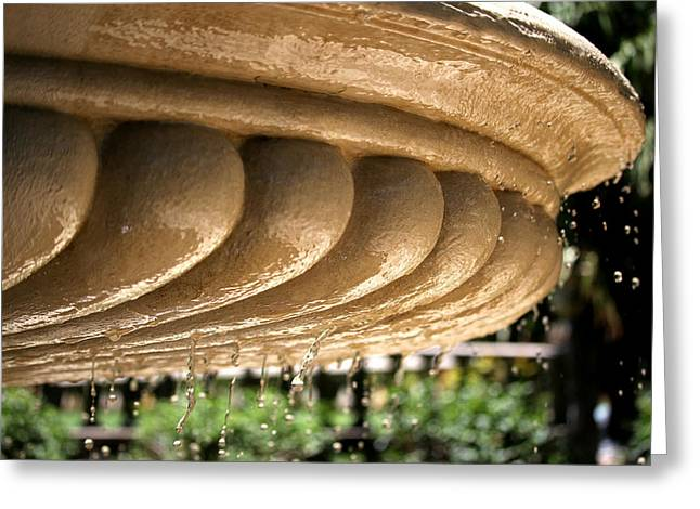 Water Garden Sculptures Greeting Cards - Fountain Study #2- Right Greeting Card by Elle A