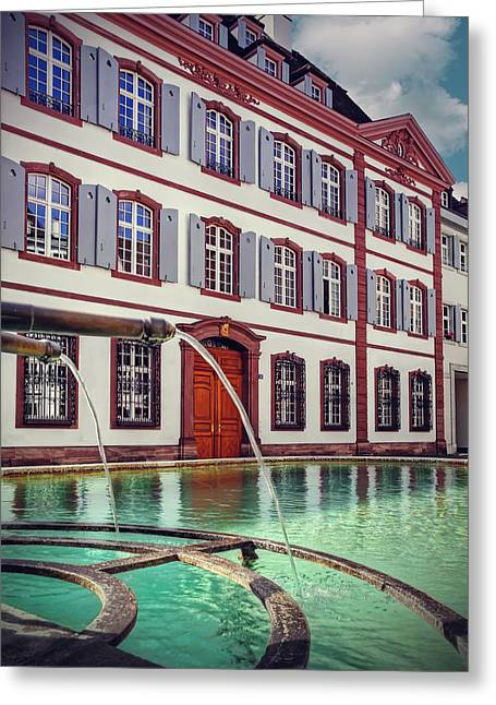 Fountains Of Basel Switzerland Greeting Card by Carol Japp
