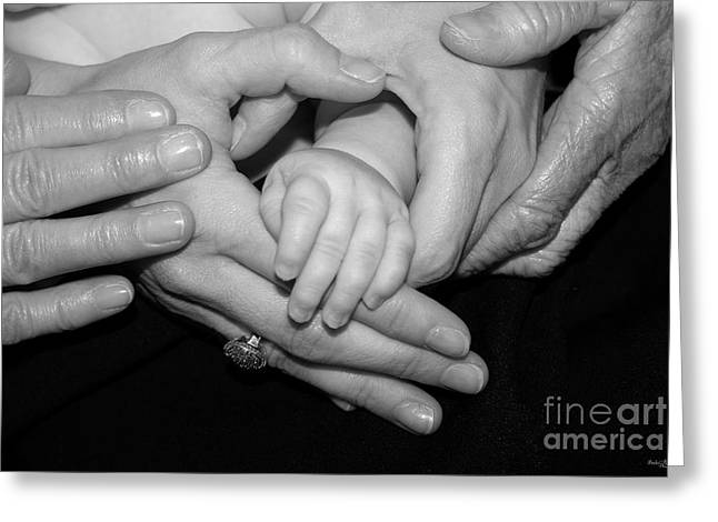Ageless Greeting Cards - Four Generations Greeting Card by Jennifer White