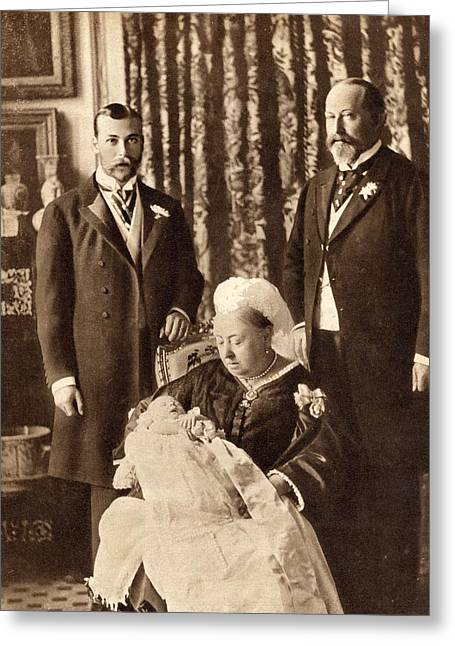 Four Generations Of The English Royal Greeting Card by Vintage Design Pics