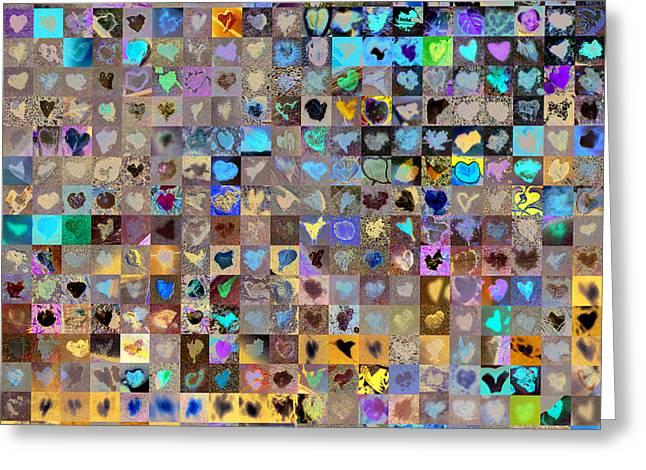 Photo Collage Greeting Cards - Four Hundred and One Hearts Greeting Card by Boy Sees Hearts