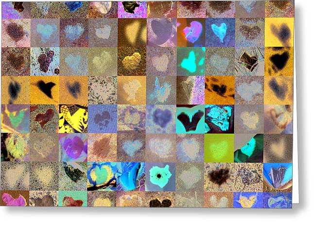 Grid Of Heart Photos Digital Greeting Cards - Four Hundred Series  Greeting Card by Boy Sees Hearts