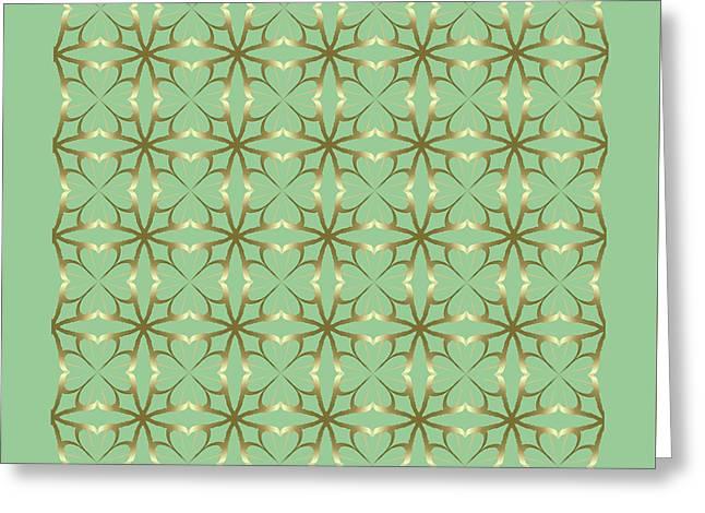 Festivities Greeting Cards - Four Leaf Clovers Greeting Card by Lena Kouneva