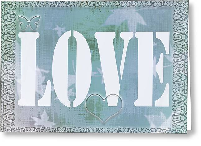 Texting Greeting Cards - Four Little Letters Greeting Card by Kathy Franklin