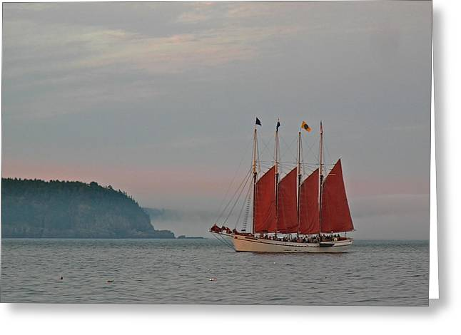 Four-masted Schooner The Margaret Todd Greeting Card by Juergen Roth
