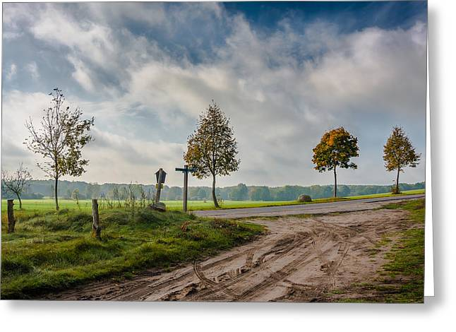 Mud Season Greeting Cards - Four on the crossroads Greeting Card by Dmytro Korol