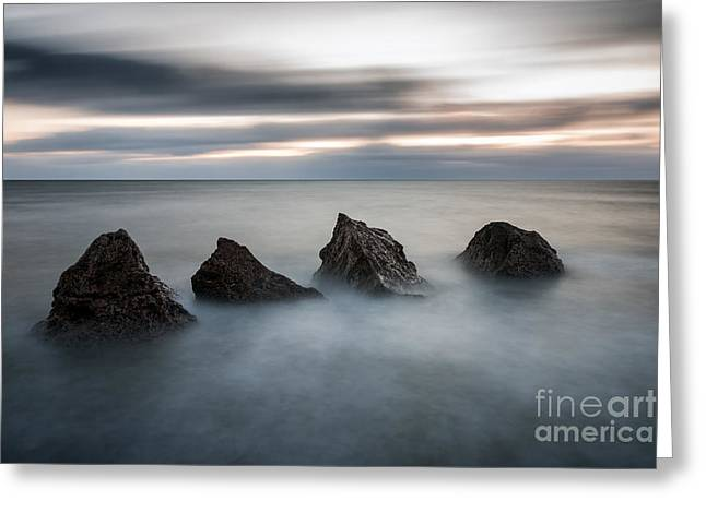 Four Rocks Greeting Card by Ray Pritchard