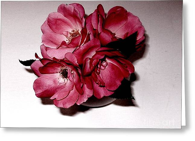 Four Roses Greeting Card by Marsha Heiken