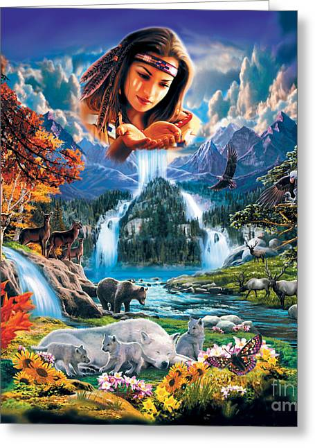Four Seasons Greeting Card by Robin Koni