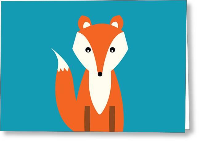Fox Greeting Card by Natalie Kinnear