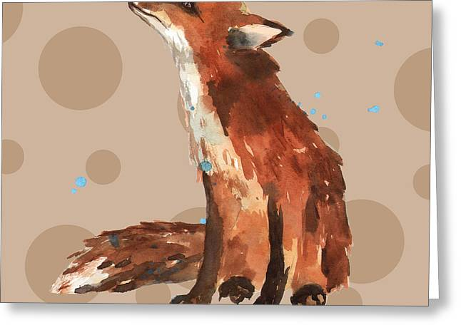 Fox Paintings Greeting Cards - Fox Painting Greeting Card by Alison Fennell