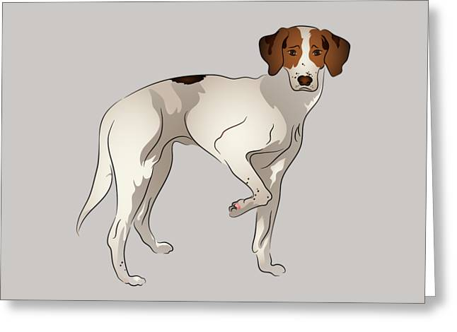 Foxhound Greeting Card by MM Anderson