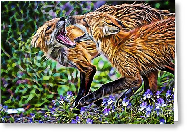 Fox Greeting Cards - FoxTrot Greeting Card by Marvin Blaine