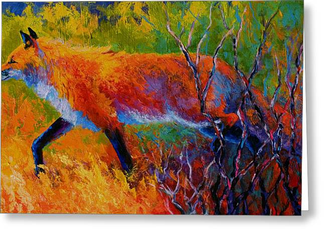 Foxy - Red Fox Greeting Card by Marion Rose