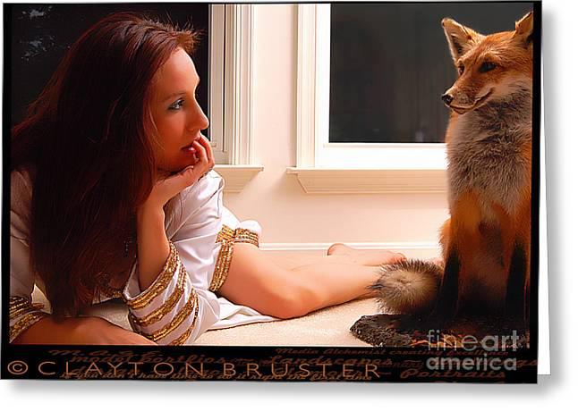 Bruster Greeting Cards - Foxy Greeting Card by Clayton Bruster