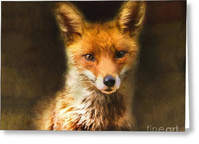 Fox Greeting Cards - Foxy Loxy Greeting Card by Tara Lee Richardson