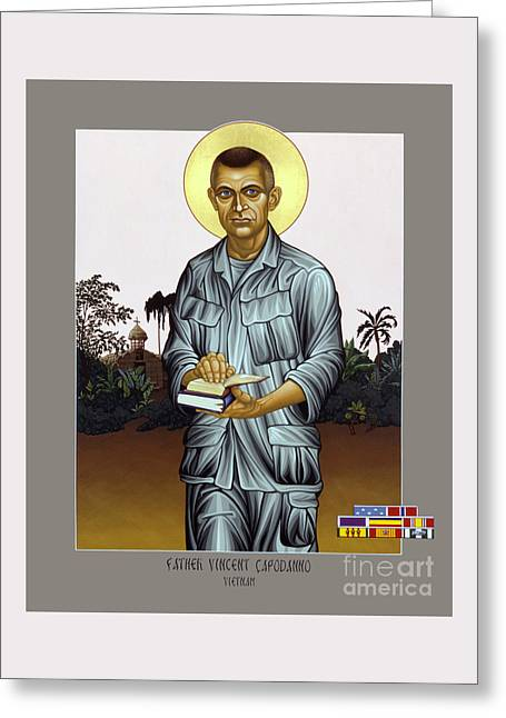 Fr. Vincent Capodanno, The Grunt Padre - Lwvcd     Greeting Card by Lewis Williams OFS