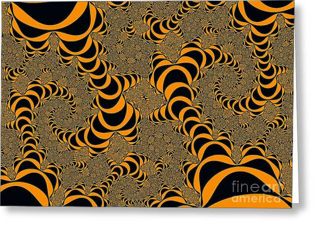 Helix Greeting Cards - Fractal Abstract Greeting Card by Nikki Vig