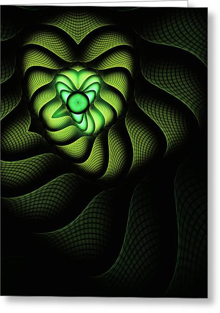 Abstract Digital Digital Greeting Cards - Fractal Cobra Greeting Card by John Edwards