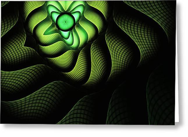 Fractal Cobra Greeting Card by John Edwards
