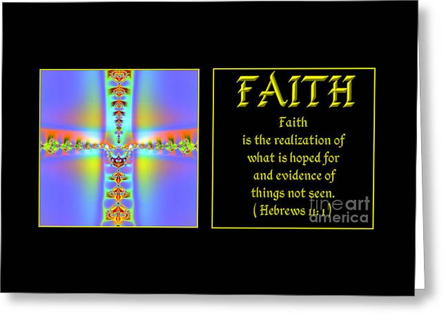 Fractal Faith Hebrews 11 Greeting Card by Rose Santuci-Sofranko