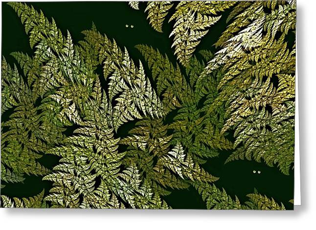 Dappled Light Digital Art Greeting Cards - Fractal Ferns Queensland Greeting Card by Doug Morgan