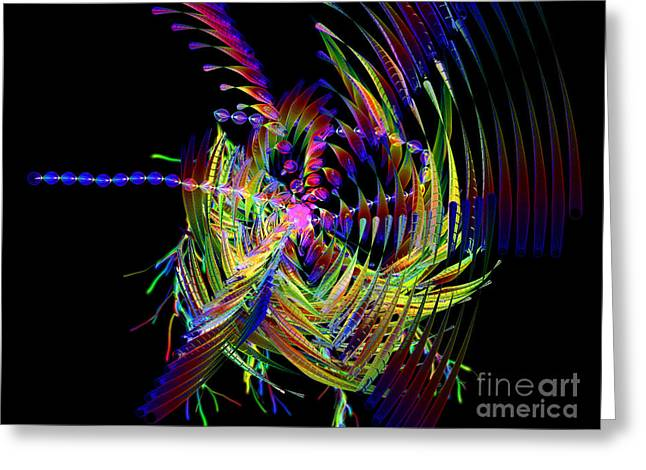 Abstracts Digital Greeting Cards - Fractal Folly Greeting Card by Jeff Kolker