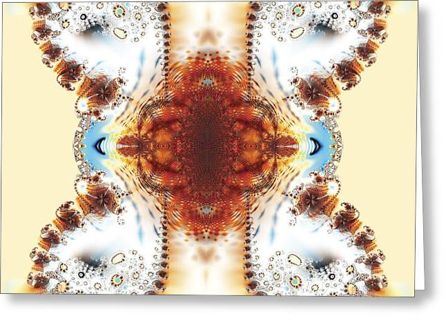 Fractal Jewellery Greeting Card by Ganesh Barad