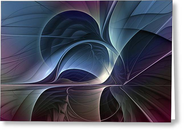 Fractal Mysterious Greeting Card by Gabiw Art