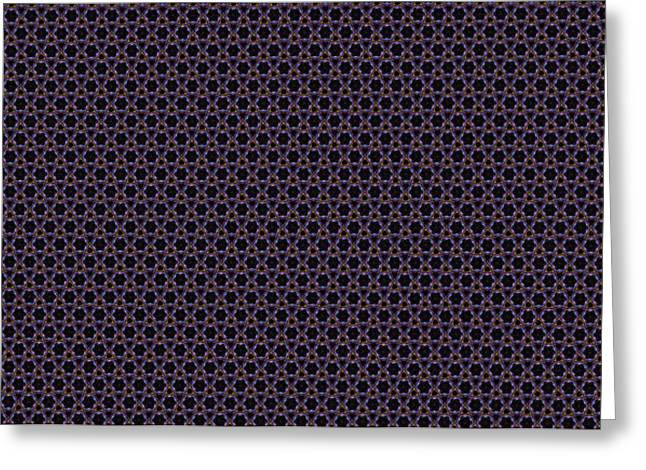 Instructions Paintings Greeting Cards - Fractal Pattern 222 Greeting Card by Bruce Nutting
