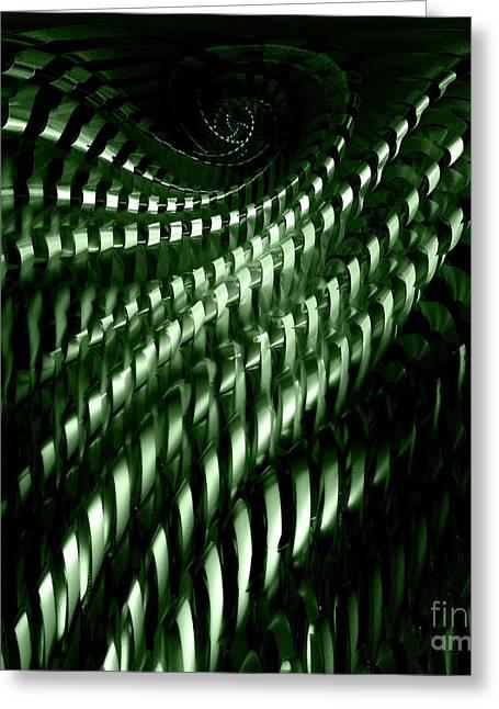 Geometric Artwork Greeting Cards - Fractal structure Greeting Card by Gaspar Avila