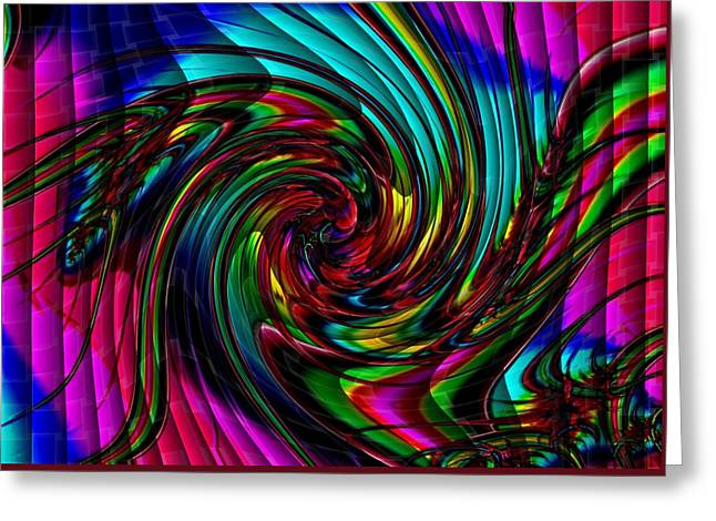 Abstract Expressionist Greeting Cards - Fractala Sarah Catus 1 no. 1 H b Greeting Card by Gert J Rheeders