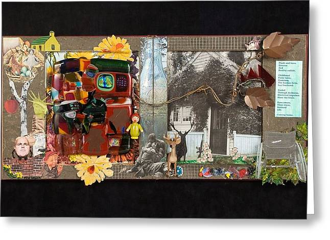 Nursery Rhyme Mixed Media Greeting Cards - Fractured Fairy Tales Coming Home Greeting Card by Mark Lubich