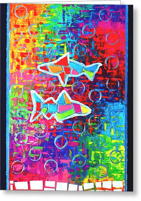 Jeremy Greeting Cards - Fractured Fish Greeting Card by Jeremy Aiyadurai