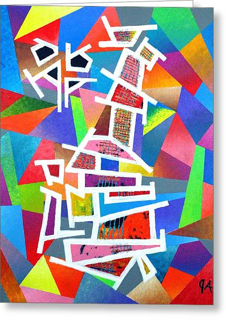 Fractured Instrument Of Love Greeting Card by Jeremy Aiyadurai
