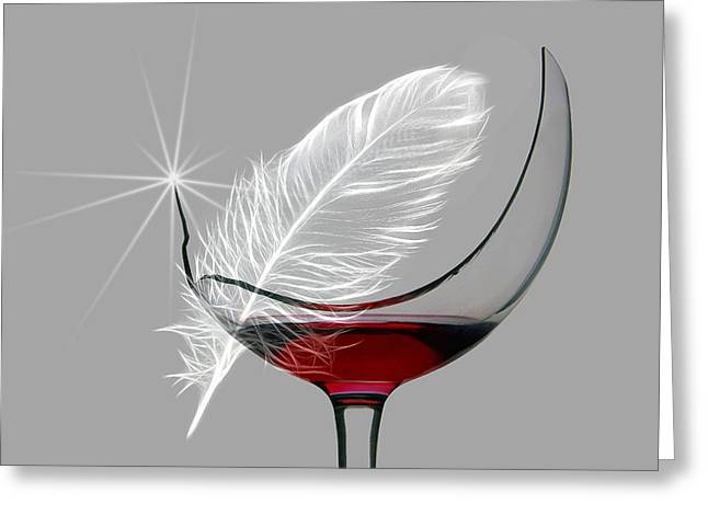 Feather Pen Greeting Cards - Fragile 2 Greeting Card by Manfred Lutzius